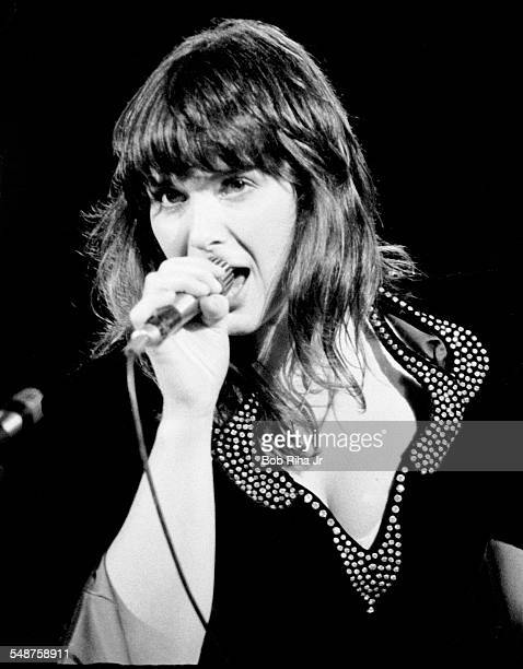 American musician Ann Wilson of the rock group Heart performs onstage at the Universal Amphitheatre Los Angeles California July 15 1977