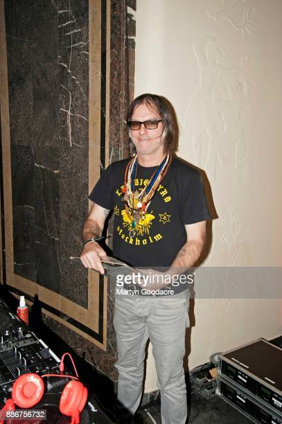 American musician Anton Newcombe of The Brian Jonestown Massacre DJs at Volksbuhne on November 19 2017 in Berlin Germany