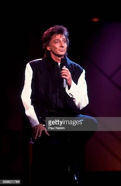American musician Barry Manilow performs on the 'Oprah Winfrey Show' Chicago Illinois June 19 1992