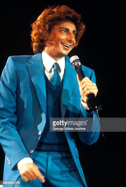 American musician Barry Manilow performs onstage London England 1979