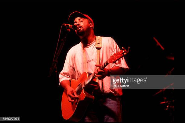 American musician Darius Rucker of the band Hootie and the Blowfish performs onstage at the World Music Theater Tinley Park Illinois August 3 1995