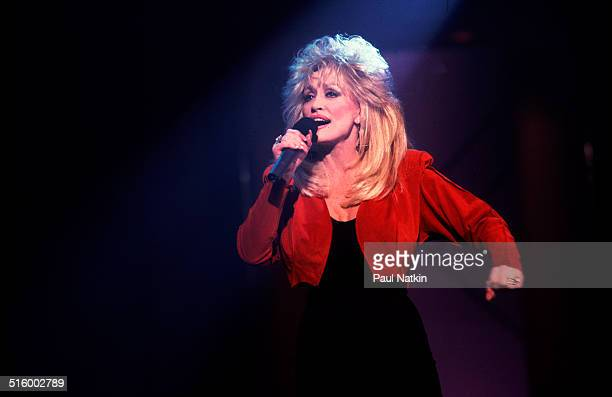 American musician Dolly Parton peforms on the Oprah Winfrey television show Chicago Illinois February 11 1992