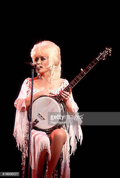 American musician Dolly Parton performs onstage at the Rosemont Horizon Rosemont Illinois March 30 1986