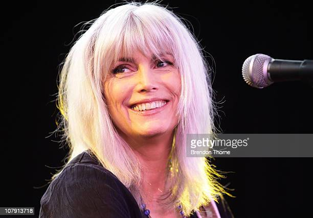 American Musician Emmylou Harris gives a sneak preview of her Sydney Festival First Night performance at a media call on January 7 2011 in Sydney...