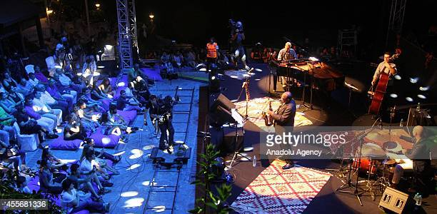 American musician Ernie Watts and orchestra perform during 12th International Alanya Jazz Days in Antalya Turkey on 18 September 2014