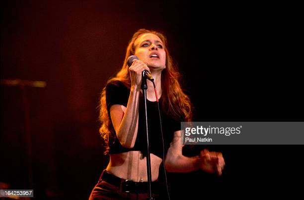 American musician Fiona Apple performs on stage Chicago Illinois December 1 1996