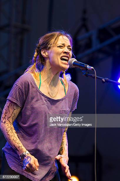 American musician Fiona Apple performs with the Watkins Family Hour Band at the Lincoln Center Out of Doors AmericanaFest NYC at Damrosch Park...