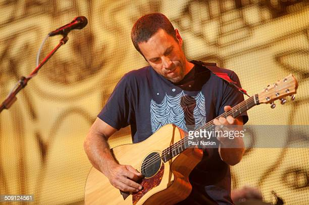 American musician Jack Johnson performs onstage during the Farm Aid benefit concert at Saratoga Performing Arts Cente Saratoga Springs New York...