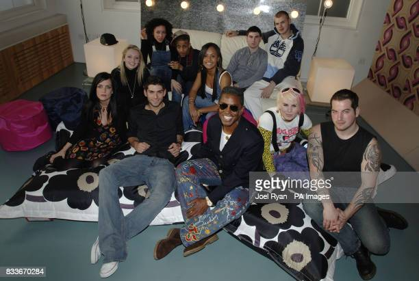 American musician Jermaine Jackson with performers from T4 reality show Musicool which aims to find the most talented young musicians around and make...