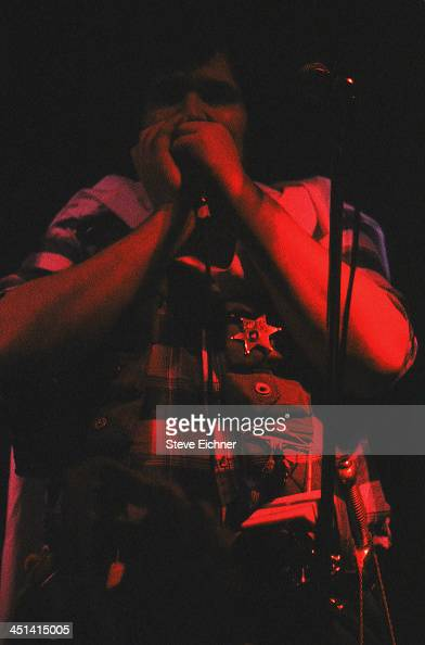 American musician John Popper performs on stage at the Wetlands Preserve nightclub 1990