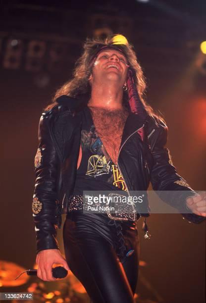 American musician Jon Bon Jovi at Met Center on Bloomington Minnesota April 4 1989