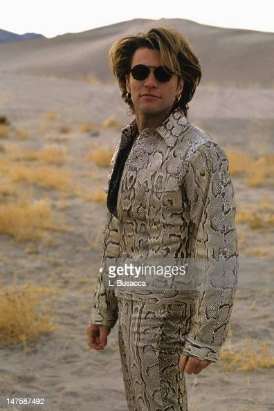 Jon Bon Jovi poses for photographs during the 'Bed of Roses' video ...