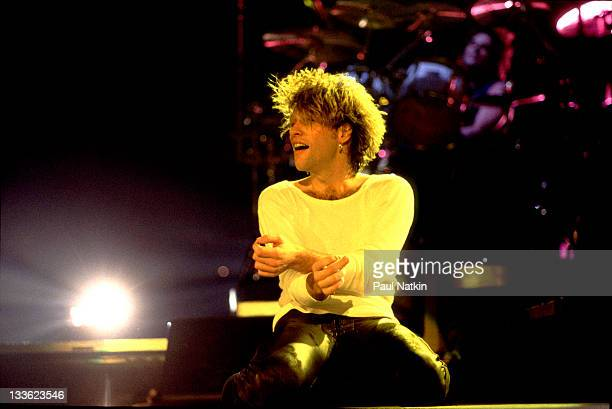 American musician Jon Bon Jovi performs at the Rosemont Horizon Rosemont Illinois March 15 1993