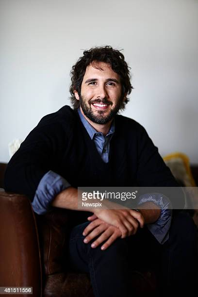 American musician Josh Groban poses during a photo shoot at the Warner Music offices in Crows Nest in Sydney New South Wales