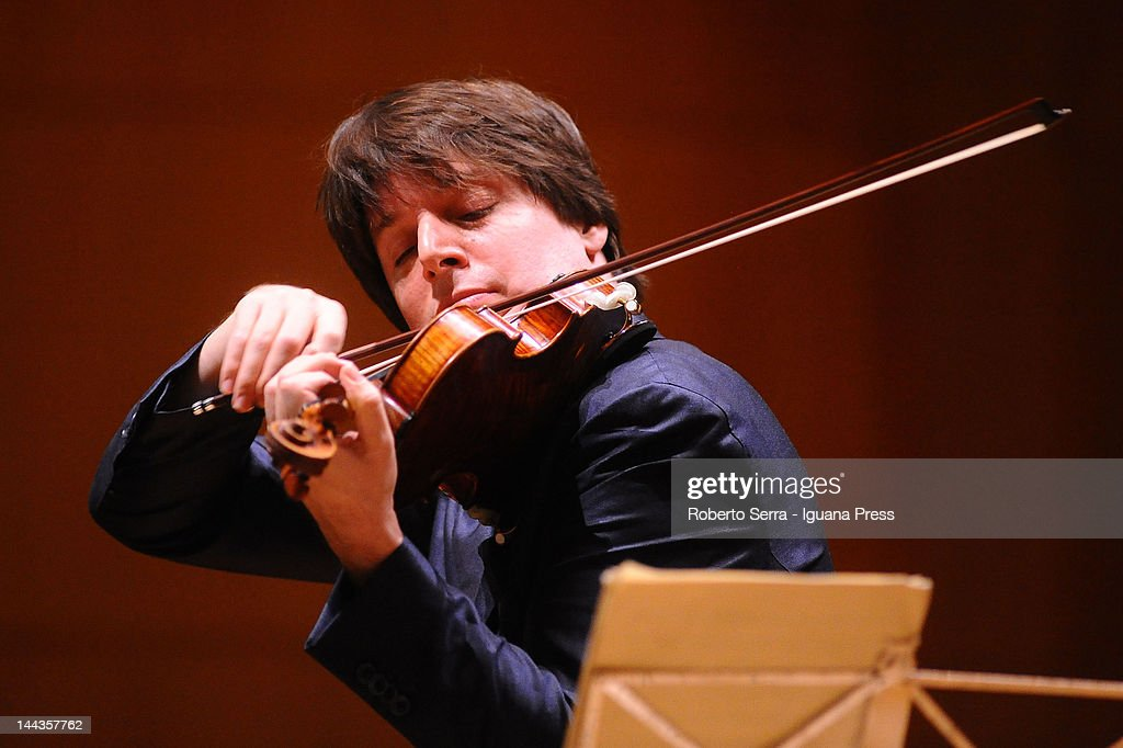 American musician <a gi-track='captionPersonalityLinkClicked' href=/galleries/search?phrase=Joshua+Bell+-+Musician&family=editorial&specificpeople=556072 ng-click='$event.stopPropagation()'>Joshua Bell</a> performs at Auditorium Manzoni for Musica Insieme on May 7, 2012 in Bologna, Italy.