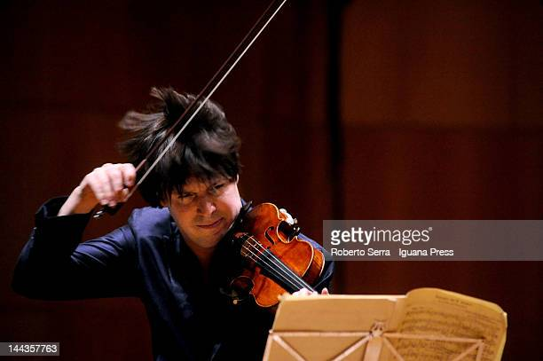 American musician Joshua Bell performs at Auditorium Manzoni for Musica Insieme on May 7 2012 in Bologna Italy