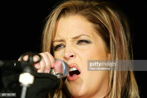 American musician Lisa Marie Presley performs onstage at the M Bar London England May 12 2003