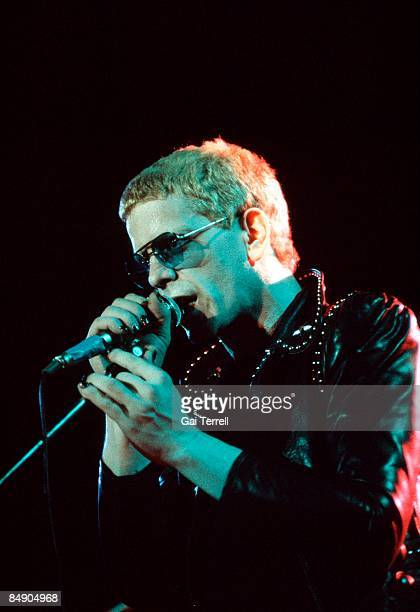 American musician Lou Reed performs live on stage in 1974
