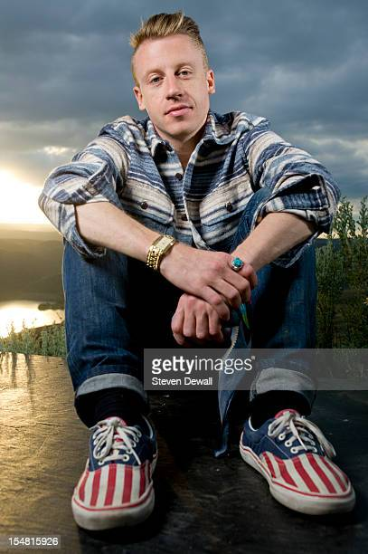 American musician Macklemore poses for a portrait backstage at the Sasquatch Music Festival in George Washington United States 25th May 2012