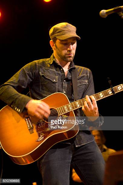 American musician Mat Kearney performs onstage at the First Midwest Bank Ampitheater Tinley Park Illinois September 9 2006