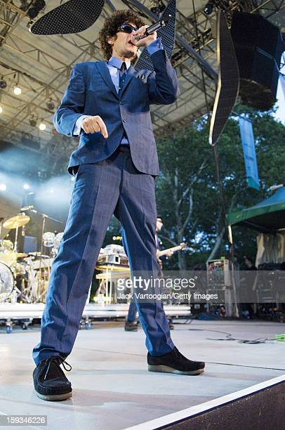 American musician Michael Diamond of rap group the Beastie Boys performs at a Benefit for Central Park's SummerStage New York New York August 8 2007