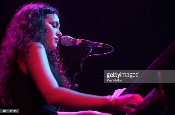 American musician Norah Jones plays piano onstage at the House of Blues Chicago Illinois April 16 2002