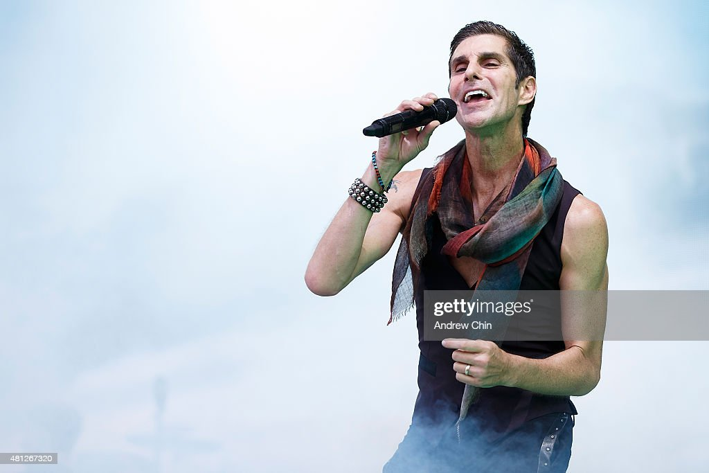 American Musician Perry Farrell of Jane's Addiction performs onstage during the Pemberton Music Festival on July 18 2015 in Pemberton Canada