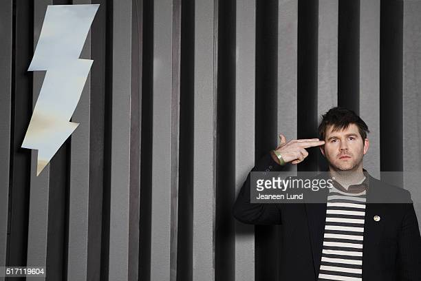 American musician producer DJ and cofounder of record label DFA Records and member of LCD Soundsystem James Murphy for Clash magazine on April 1 2007...