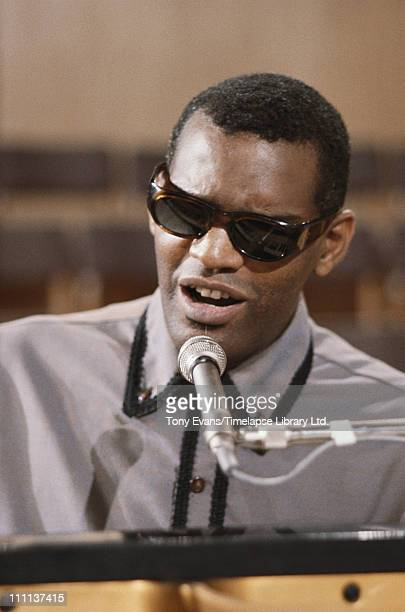 American musician Ray Charles in concert circa 1970