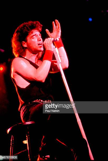 American musician Richard Marx sings during a performance Chicago Illinois February 4 1990