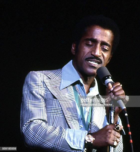 American musician Sammy Davis Jr performs on stage at the International Ampitheatre as part of the Push Expo Chicago Illinois September 28 1972 The...