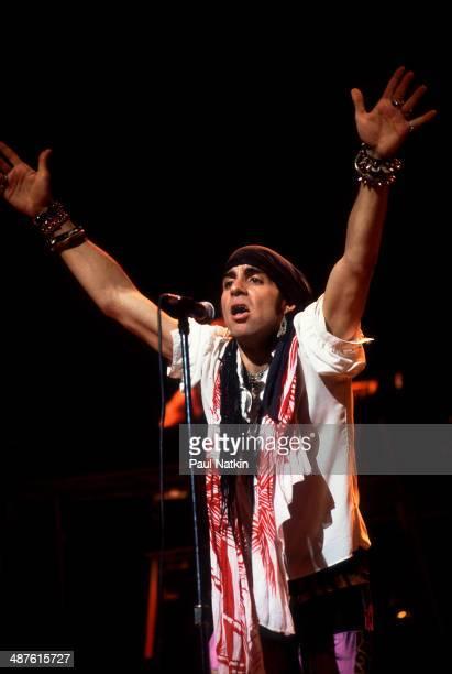 American musician Steven Van Zandt performs onstage Chicago Illinois July 27 1984