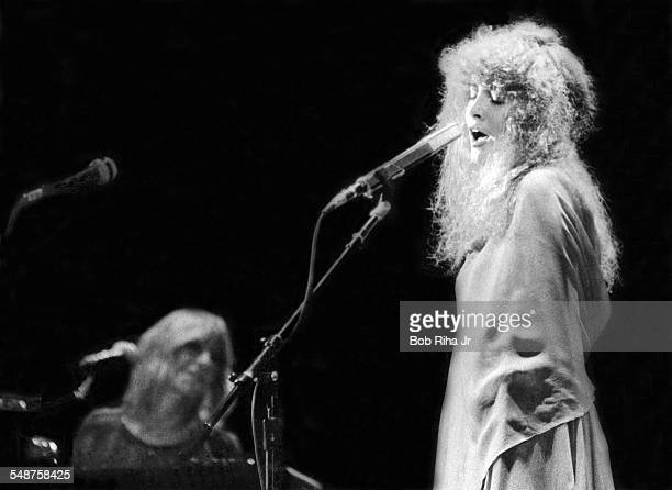 American musician Stevie Nicks of the group Fleetwood Mac perform onstage at the Los Angeles Forum Inglewood California December 6 1979 In the...