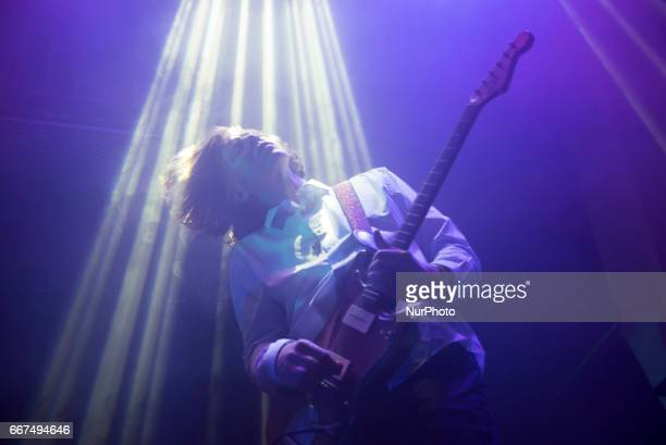 American musician Thurston Moore perform live at Jazz Café London on April 11 2017 Thurston Moore played at London's venue with Black Top which is...