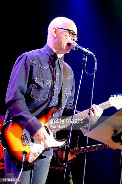 American musician Wayne Kramer plays guitar as he performs onstage Chicago Illinois April 9 2003