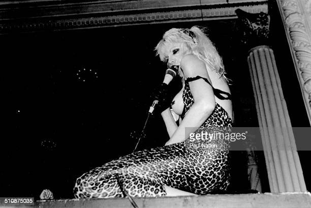 American musician Wendy O Williams of the group the Plasmatics performs Chicago Illinois September 20 1980