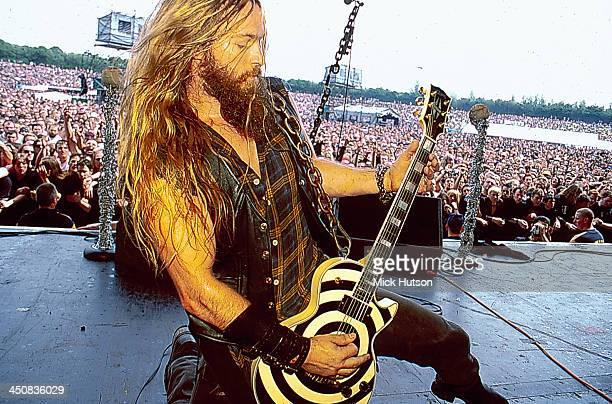 American musician Zakk Wylde on stage at Ozzfest California USA 2001