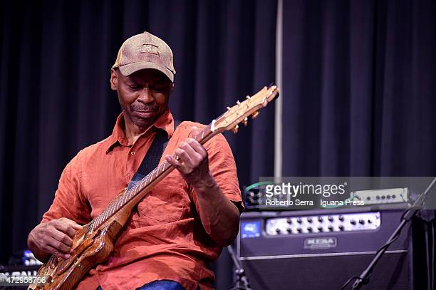 American musicians and author Kevin Eubanks performs with his quartet 'Prism' at Paradiso Jazz Club on May 4 2015 in Bologna Italy