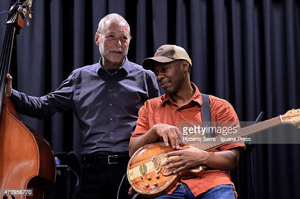 American musicians and authors Dave Holland and Kevin Eubanks performs with his quartet 'Prism' at Paradiso Jazz Club on May 4 2015 in Bologna Italy