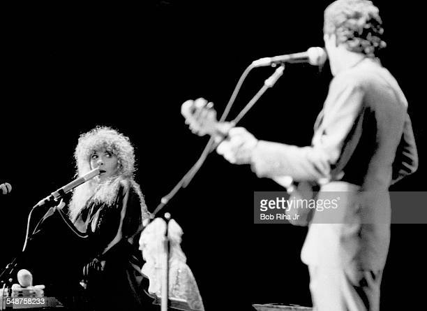 American musicians Stevie Nicks of the group Fleetwood Mac performs onstage at the Los Angeles Forum Inglewood California December 6 1979 In the...
