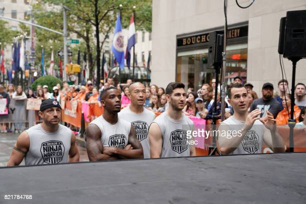 TODAY American Ninja Warrior on the Plaza Pictured Carl Fantauzzo Najee Richardson Jimmy Choi Anthony DeFranco and Joseph Moravsky on Monday July 24...