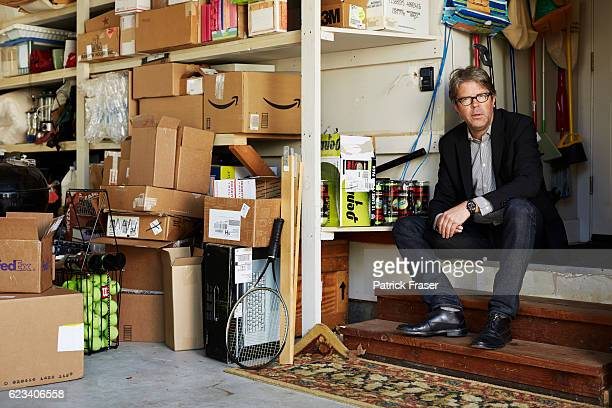 American novelist and essayist Jonathan Franzen is photographed in his home for Les Inrockuptibles on March 24 2016 in Santa Cruz California