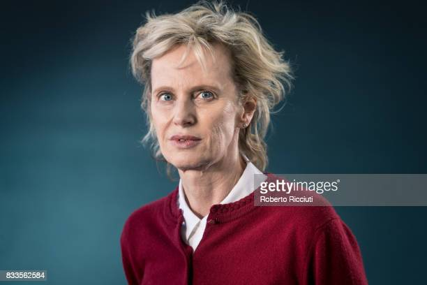 American novelist and essayist Siri Hustvedt attends a photocall during the annual Edinburgh International Book Festival at Charlotte Square Gardens...