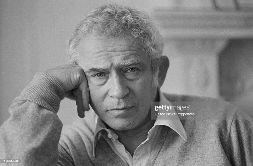 American novelist and playwright <a gi-track='captionPersonalityLinkClicked' href=/galleries/search?phrase=Norman+Mailer&family=editorial&specificpeople=206831 ng-click='$event.stopPropagation()'>Norman Mailer</a> (1923-2007) pictured in London on 13th November 1979.