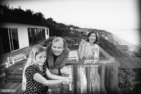 American novelist screenwriter and literary critic John Gregory Dunne his wife writer Joan Didion and their adopted daughter Quintana Roo Dunne