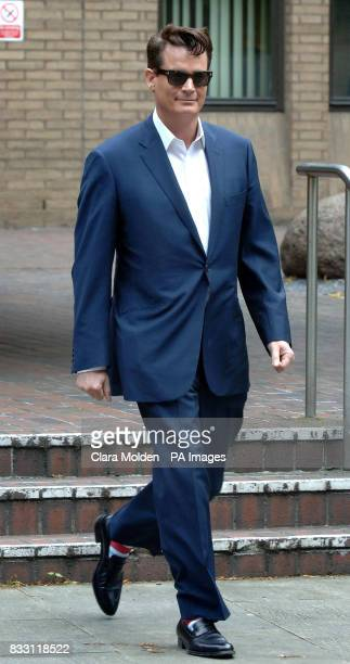American oil and banking heir Matthew Mellon leaves Southwark Crown Court in London after being cleared today of teaming up with a crooked private...