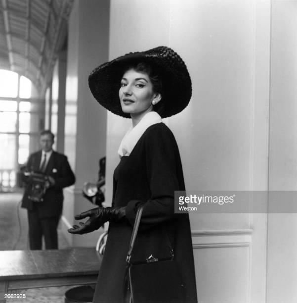 American opera singer Maria Callas in London Original Publication People Disc HC0226