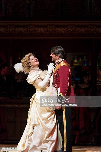 American opera singers soprano Renee Fleming and baritone Nathan Gunn perform at the final dress rehearsal prior to the premiere of the new...