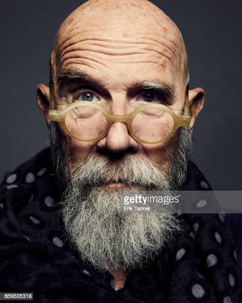 American panda and artist Chuck Close poses for a portrait at the 55th New York Film Festival on October 5 2017