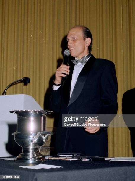 American philanthropist and former financier Michael Milken speaks during an event at the MaraLago Club Palm Beach Florida February 20 1998 The event...